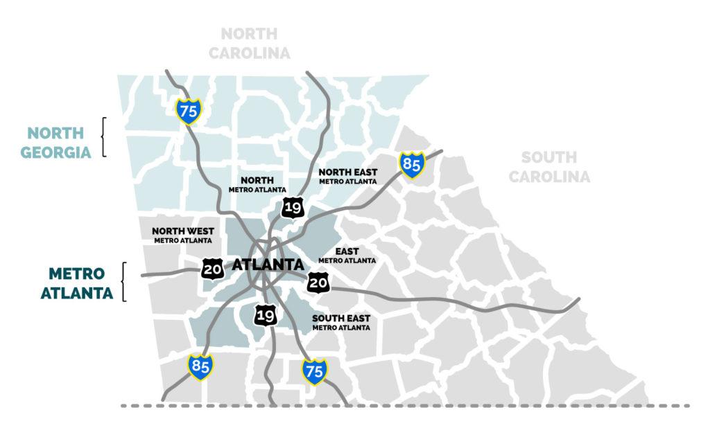 Georgia-region-map